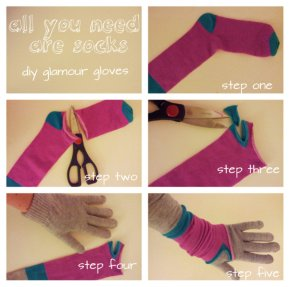All You Need Are Socks: DIY Elbow Length Glamour Gloves