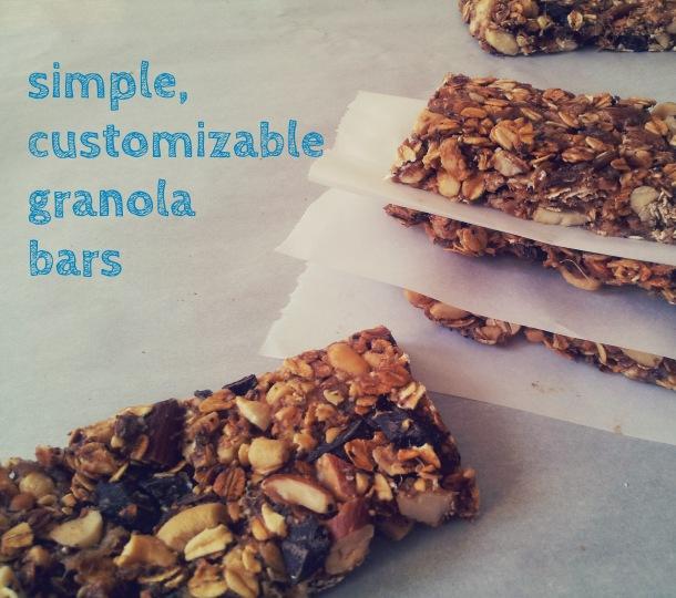 customizable granola bars
